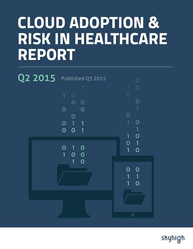 Cloud Adoption & Risk in Healthcare Report Q2 2015