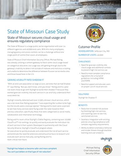 State of Missouri Case Study
