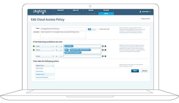 Enforce contextual access control policies
