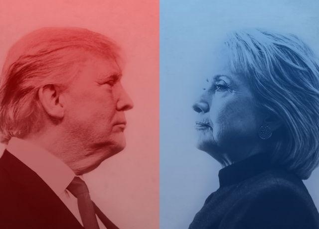 blog banner - hillary vs trump face off