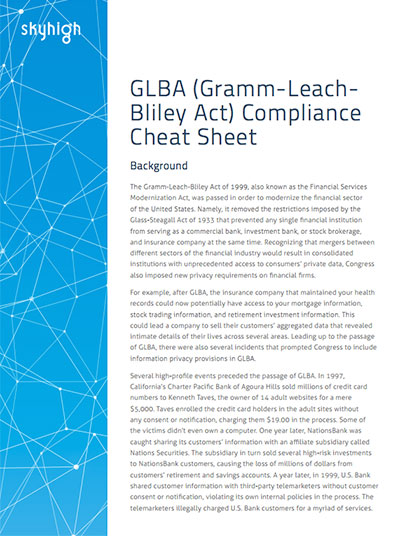 glba compliance requirements download cheat sheet