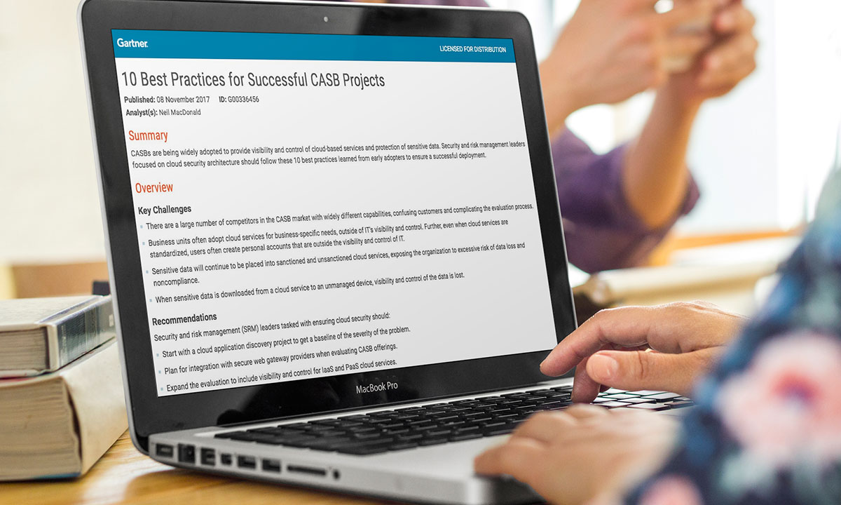 Gartner's 10 Best Practices for Successful CASB Projects - McAfee