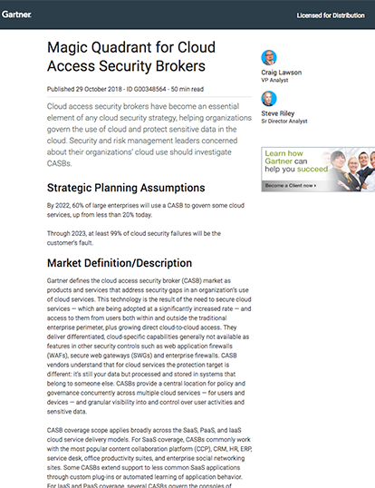 CASB: Cloud Access Security Broker Solution - McAfee MVISION Cloud
