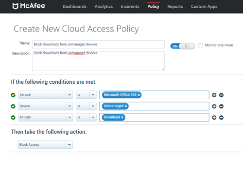 Microsoft Teams Security - McAfee MVISION Cloud